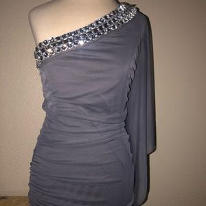 Really sexy bling off the shoulder dress